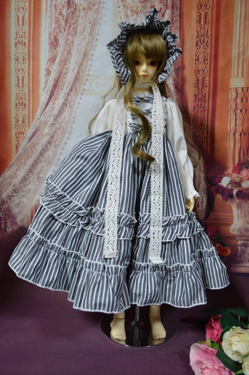 SD・SD13・SDGr・SD16 お洋服 ワンピース ドレス ストライプ _画像3