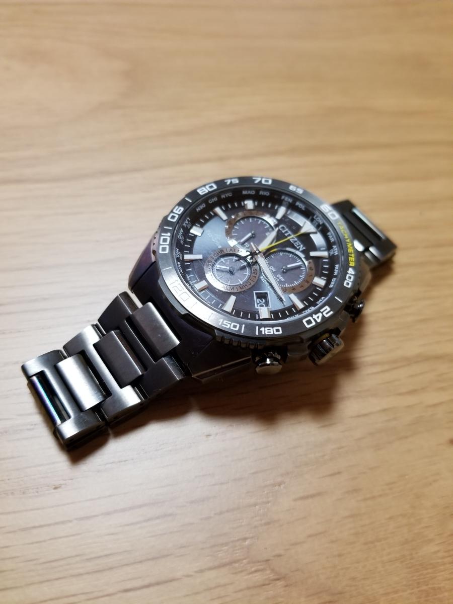 シチズン・プロマスター腕時計 CB5037-84E 新型モデルエコドライブ電波メンズDLC仕様/保証残(2020年末まで)/中古美品_画像5