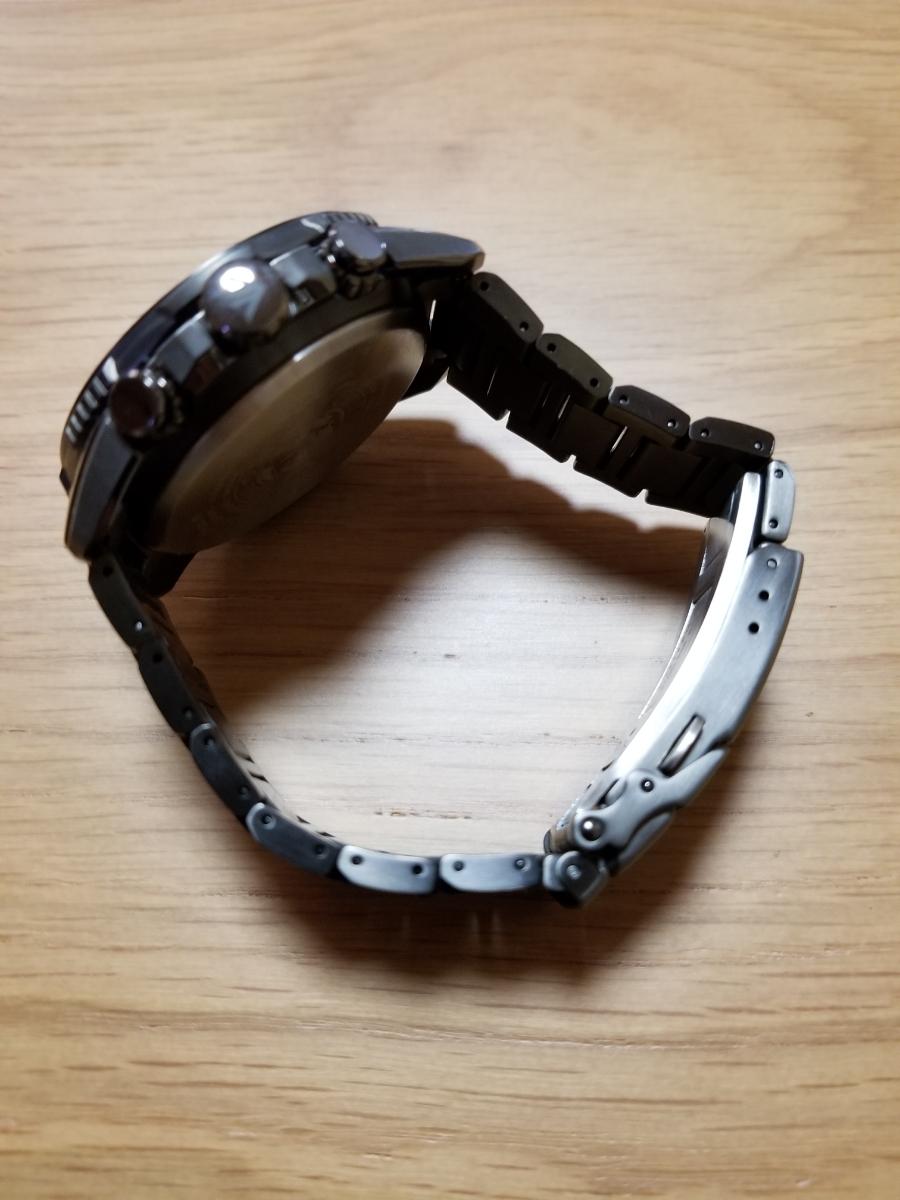 シチズン・プロマスター腕時計 CB5037-84E 新型モデルエコドライブ電波メンズDLC仕様/保証残(2020年末まで)/中古美品_画像9