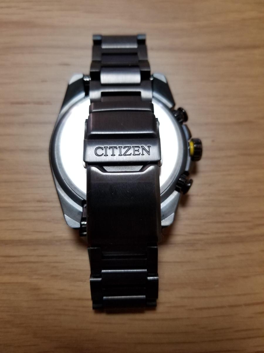 シチズン・プロマスター腕時計 CB5037-84E 新型モデルエコドライブ電波メンズDLC仕様/保証残(2020年末まで)/中古美品_画像7