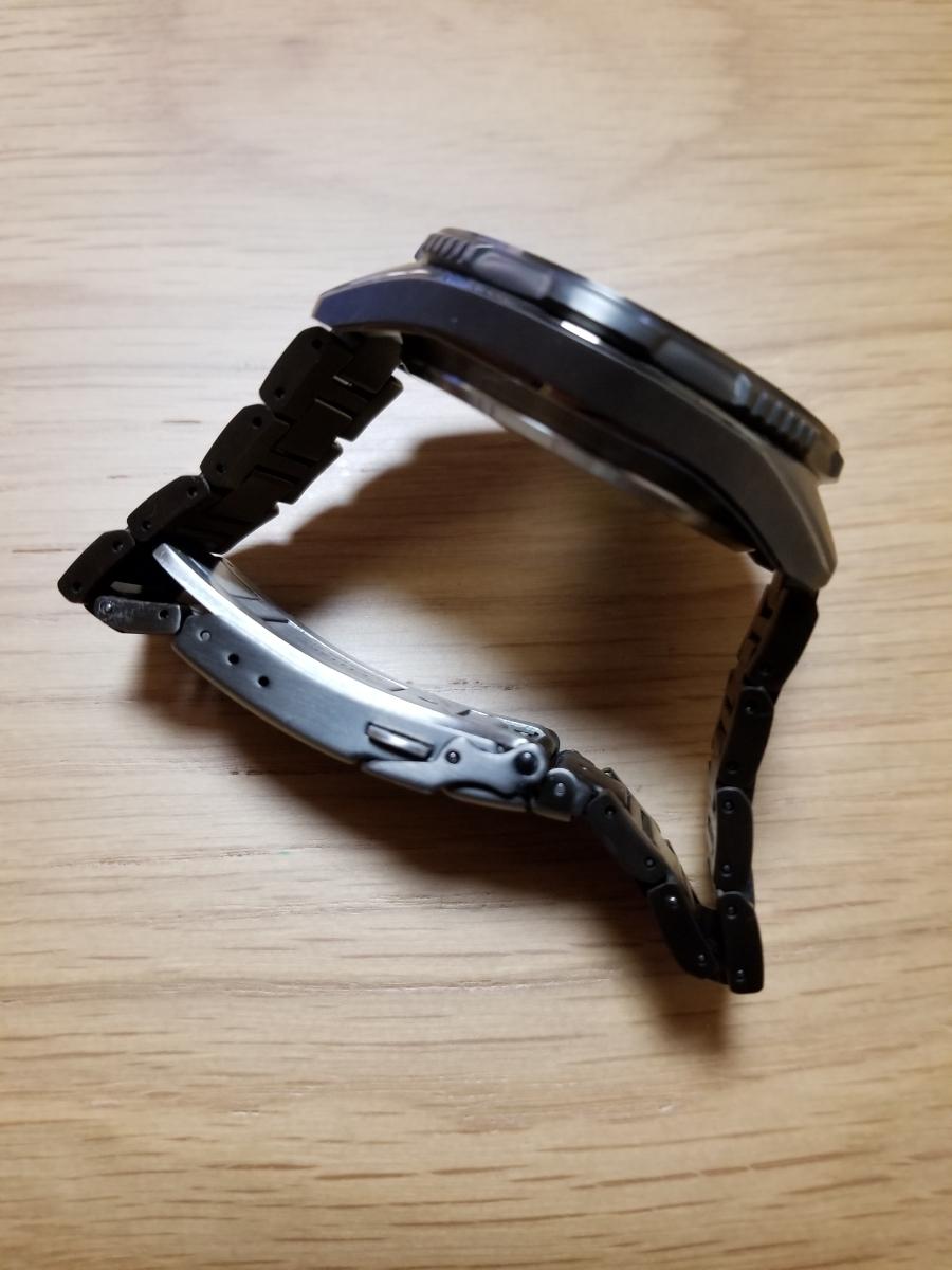 シチズン・プロマスター腕時計 CB5037-84E 新型モデルエコドライブ電波メンズDLC仕様/保証残(2020年末まで)/中古美品_画像10