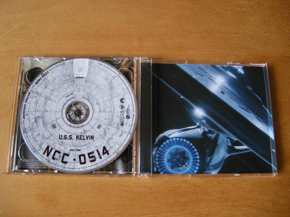 マイケル・ジアッキーノ (MICHAEL GIACCHINO) 「スター・トレック」(STAR TREK) サウンドトラック VARESE SARABANDE2枚組・デラックス盤_画像4