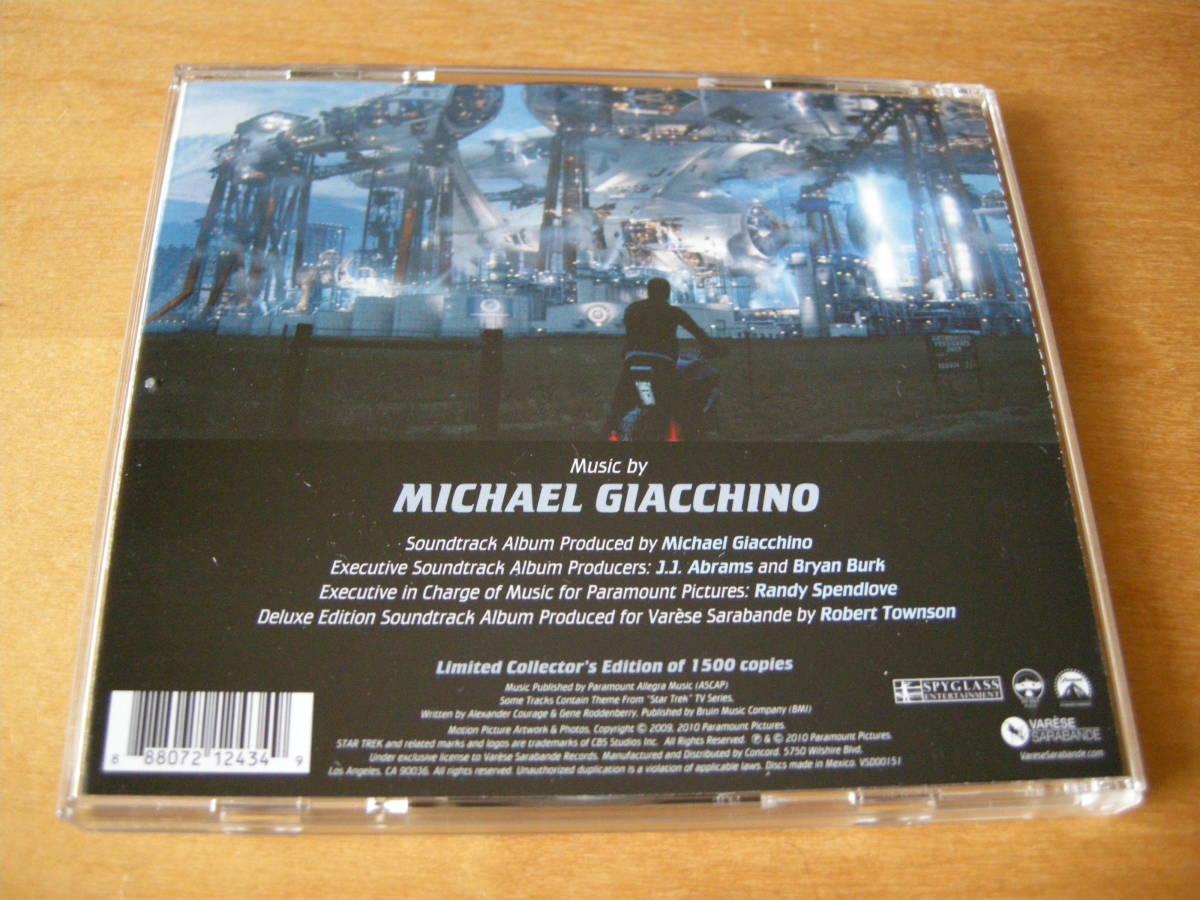 マイケル・ジアッキーノ (MICHAEL GIACCHINO) 「スター・トレック」(STAR TREK) サウンドトラック VARESE SARABANDE2枚組・デラックス盤_画像2