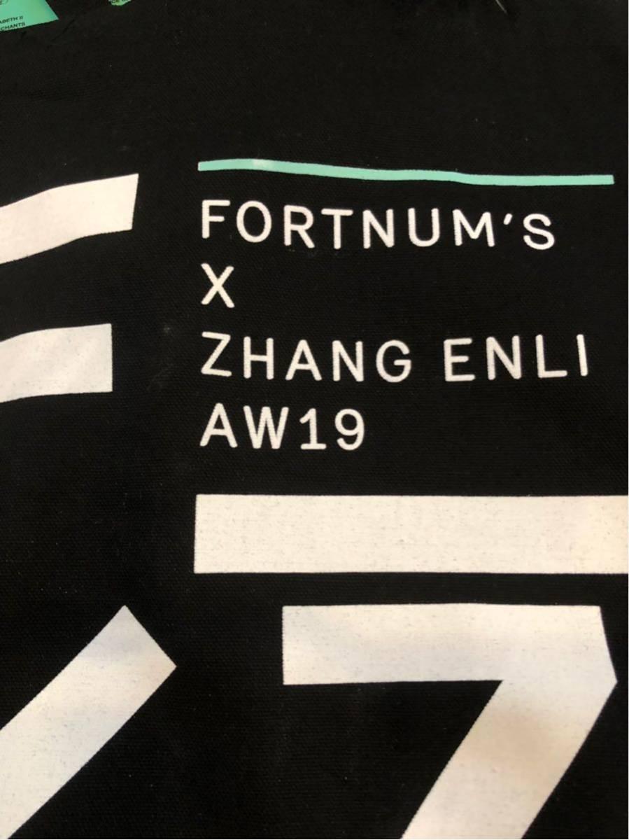 レア【ロンドン本店・2019年秋。期間限定展示のお土産品】フォートナム&メイソン  Fortnum's X Zhang Enli コットントートバッグ_画像8