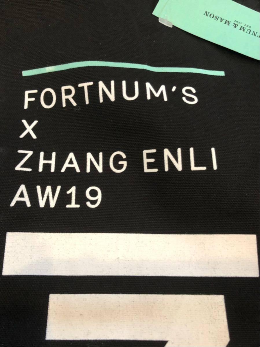 レア【ロンドン本店・2019年秋。期間限定展示のお土産品】フォートナム&メイソン  Fortnum's X Zhang Enli コットントートバッグ_画像6
