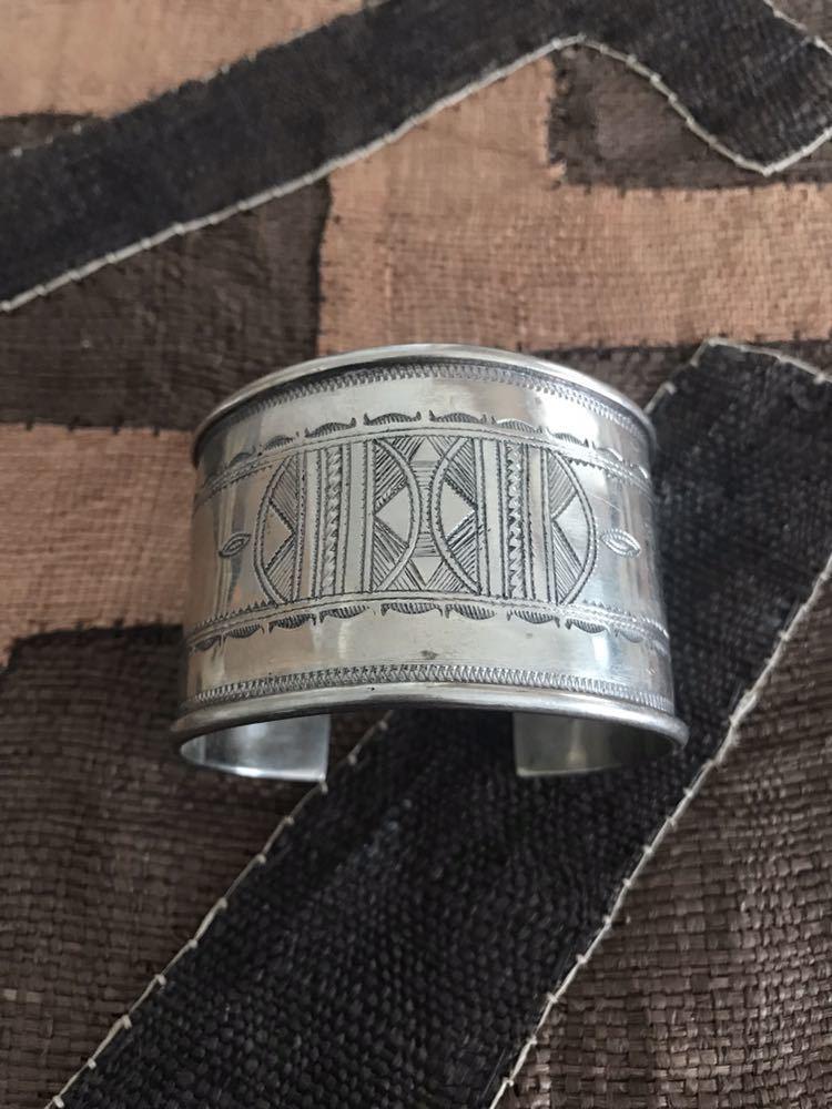 レア ビンテージ 刻印入り トゥアレグ族 バングル tuareg ● リング マルジェラ HERMES エルメス_画像1