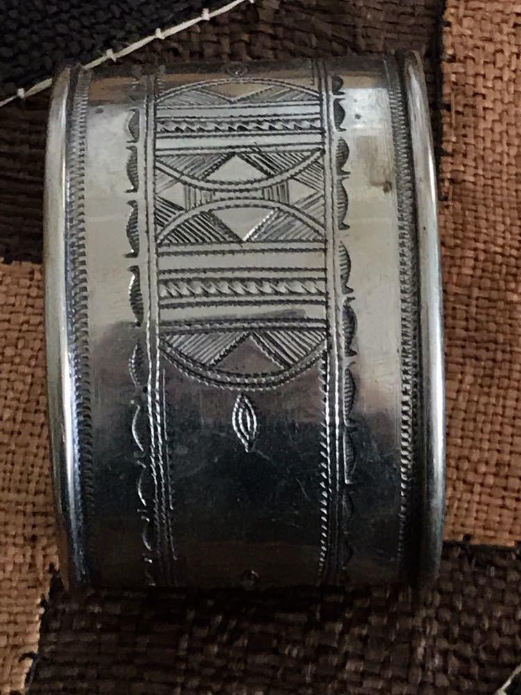 レア ビンテージ 刻印入り トゥアレグ族 バングル tuareg ● リング マルジェラ HERMES エルメス_画像3