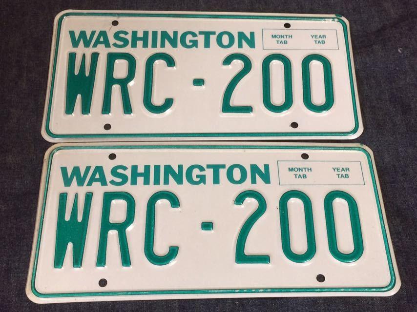 未使用アメリカ ナンバープレートワシントン州ライセンスプレート USDM 北米 デッドストック200 イベントUSA 200系ハイエースにも