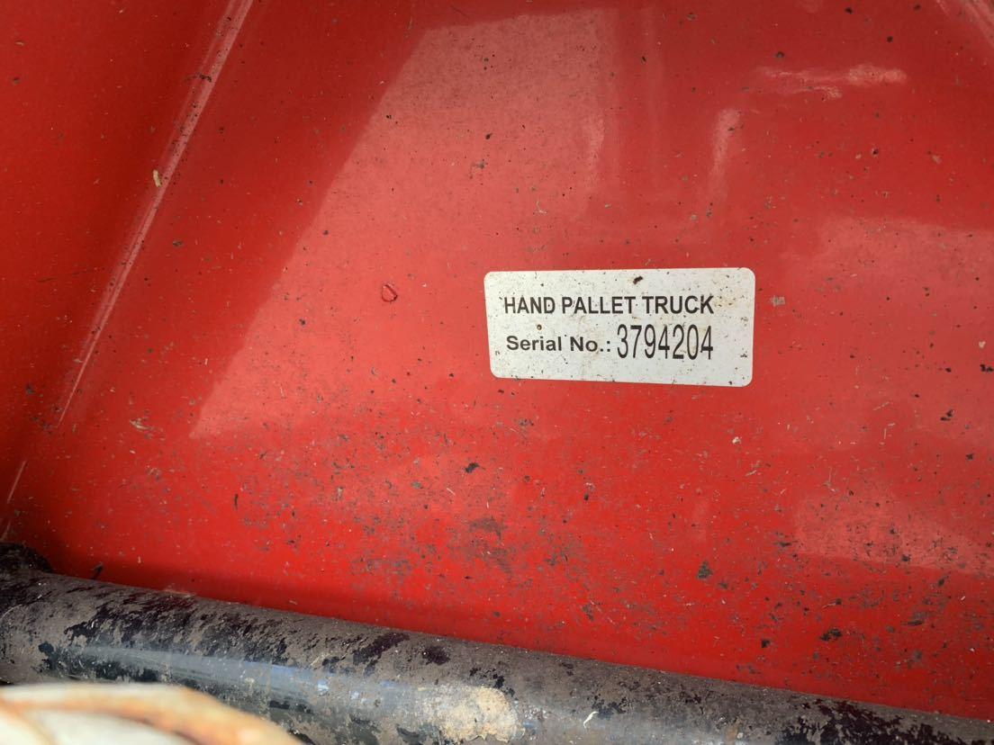 ハンドリフト ハンドフォーク 油圧式トラックハンドリフト パレットトラック 中古 倉庫作業 けん引車 台車 管理番号10407_画像6