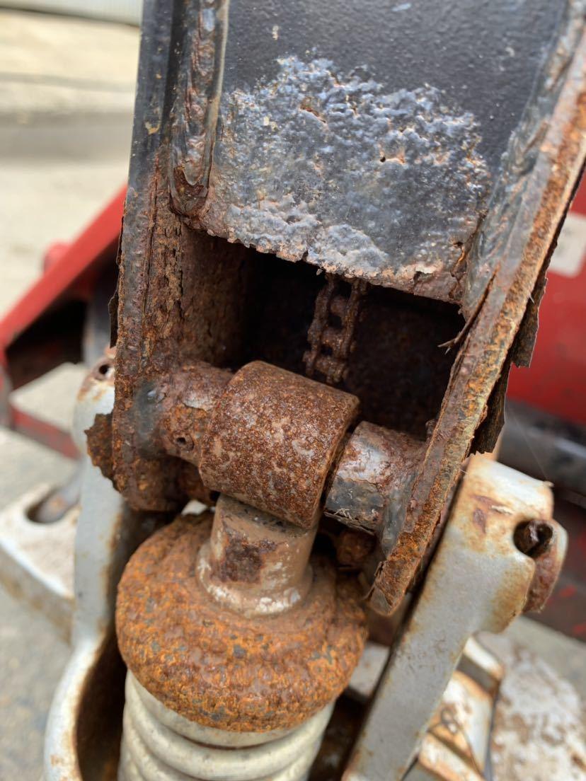 ハンドリフト ハンドフォーク 油圧式トラックハンドリフト パレットトラック 中古 倉庫作業 けん引車 台車 管理番号10407_画像8