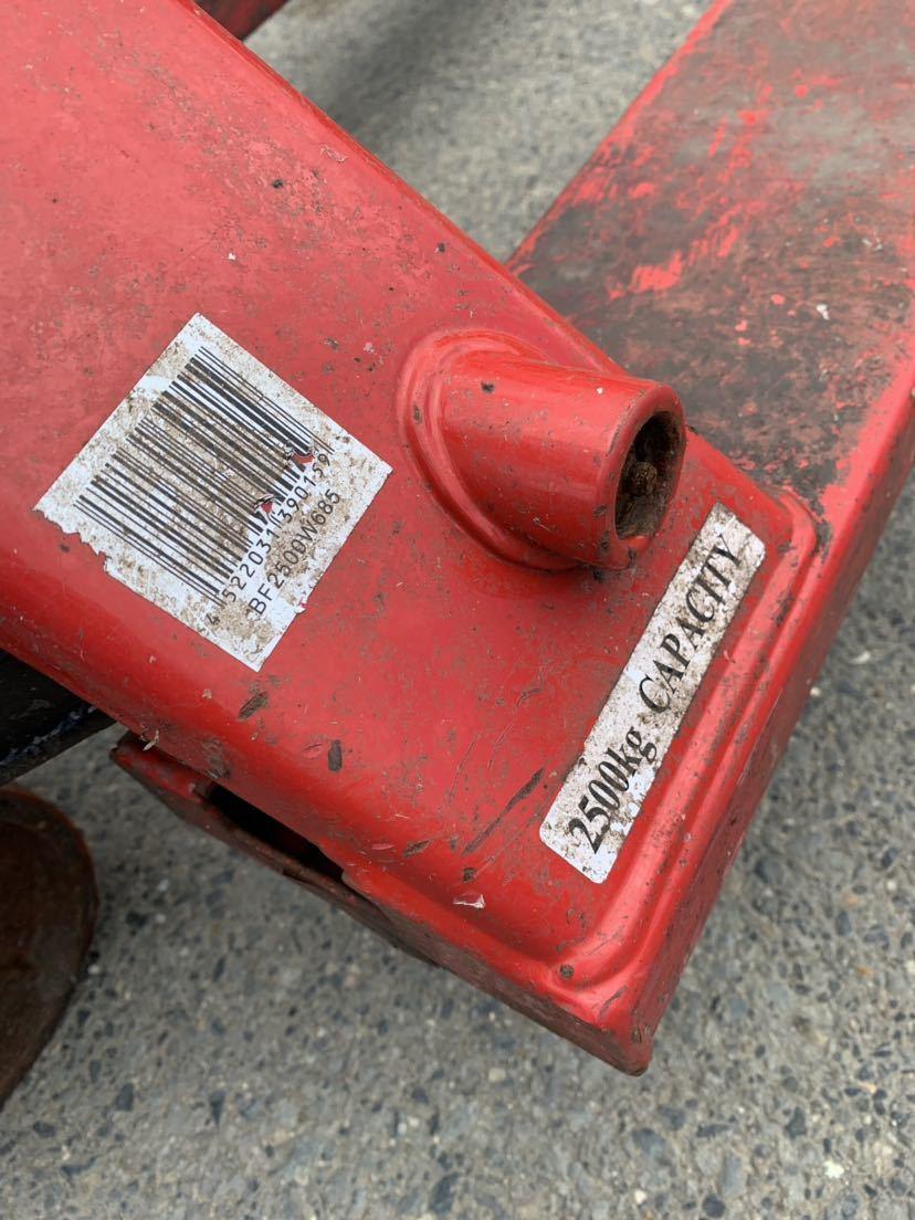 ハンドリフト ハンドフォーク 油圧式トラックハンドリフト パレットトラック 中古 倉庫作業 けん引車 台車 管理番号10407_画像7