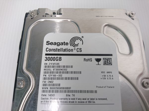★ジャンク品★SEAGATE ハードディスク HDD ST3000NC002 /3TB /SATA600 /7200 rpm/3.5インチ ★★_画像3