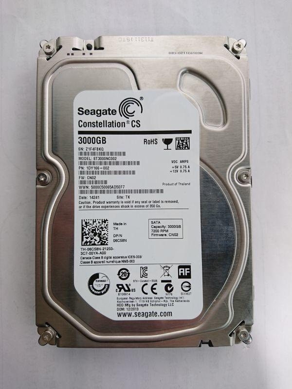 ジャンク品★SEAGATE ハードディスク HDD ST3000NC002 3TB /SATA600 /7200 rpm/3.5インチ ★★_画像1