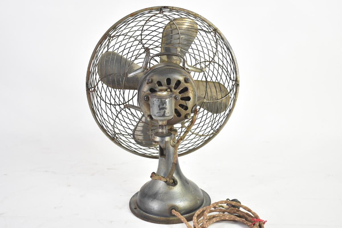 アンティーク扇風機 C-7032 4枚羽根 直径30cm 交流電気扇 芝浦製作所 [戦前][東芝][レトロ]_画像5