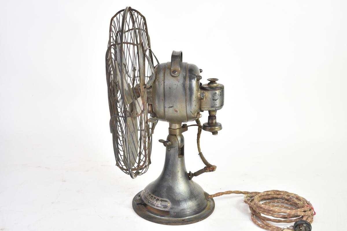 アンティーク扇風機 C-7032 4枚羽根 直径30cm 交流電気扇 芝浦製作所 [戦前][東芝][レトロ]_画像7