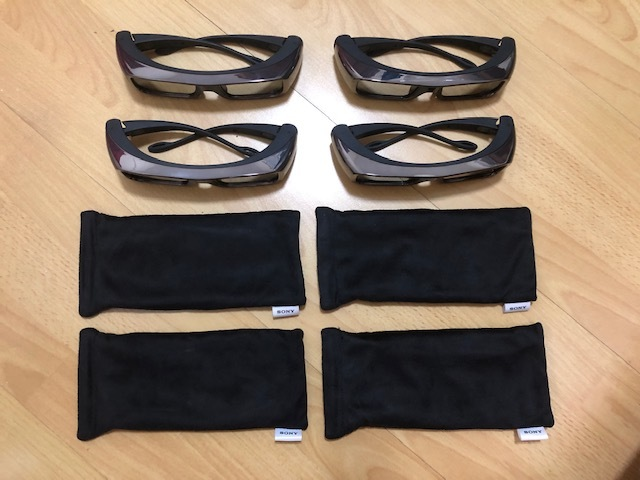 SONY 3D メガネ・TDG-BR100・4個セット・未使用に近い!!!!!!_画像1
