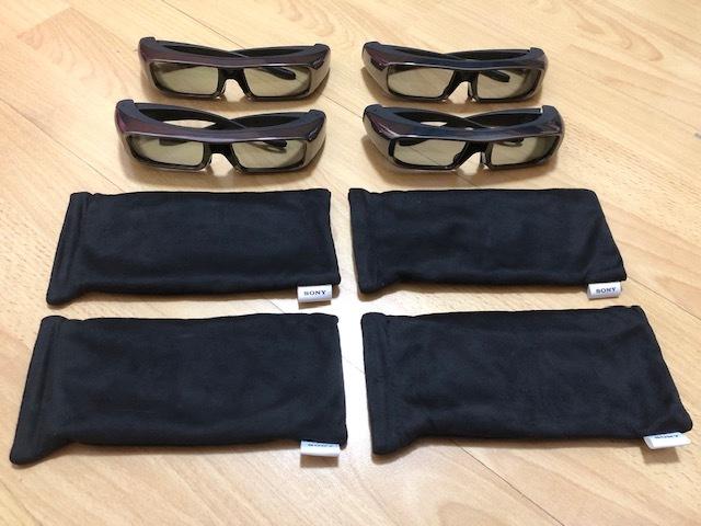 SONY 3D メガネ・TDG-BR100・4個セット・未使用に近い!!!!!!_画像2