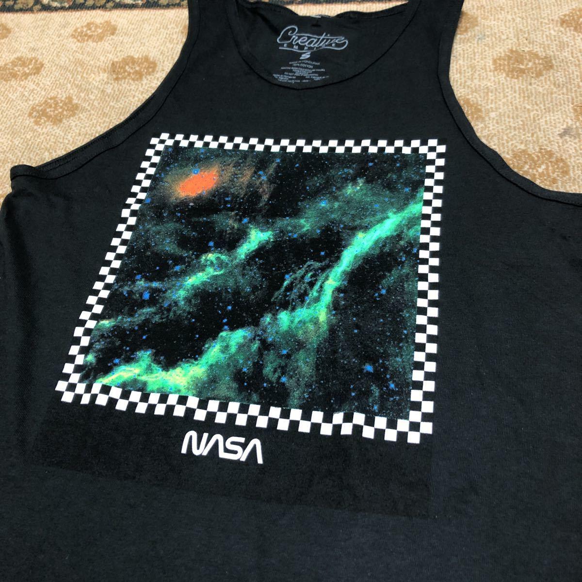 未使用 NASA ナサ タンクトップ シャツ USメンズサイズS 日本サイズM アメリカ航空宇宙局_画像6