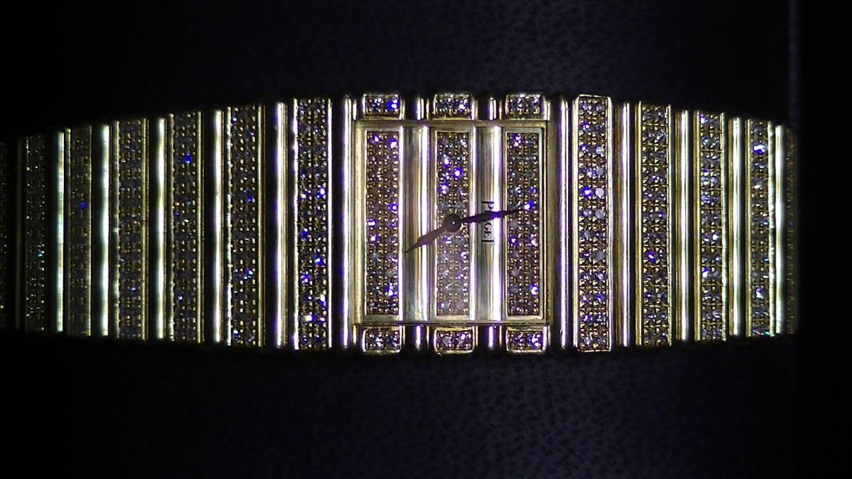 セレブ専用.ピアジェ.18金製.メーカー純正フルダイヤクオーツ時計.重量136g.定価2400万円.