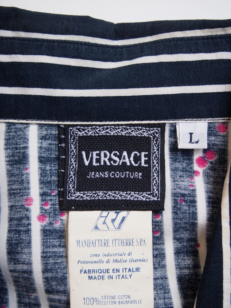 VERSACE ヴェルサーチ JEANS COUTURE シャツ 柄★☆送料225円☆★/その 19