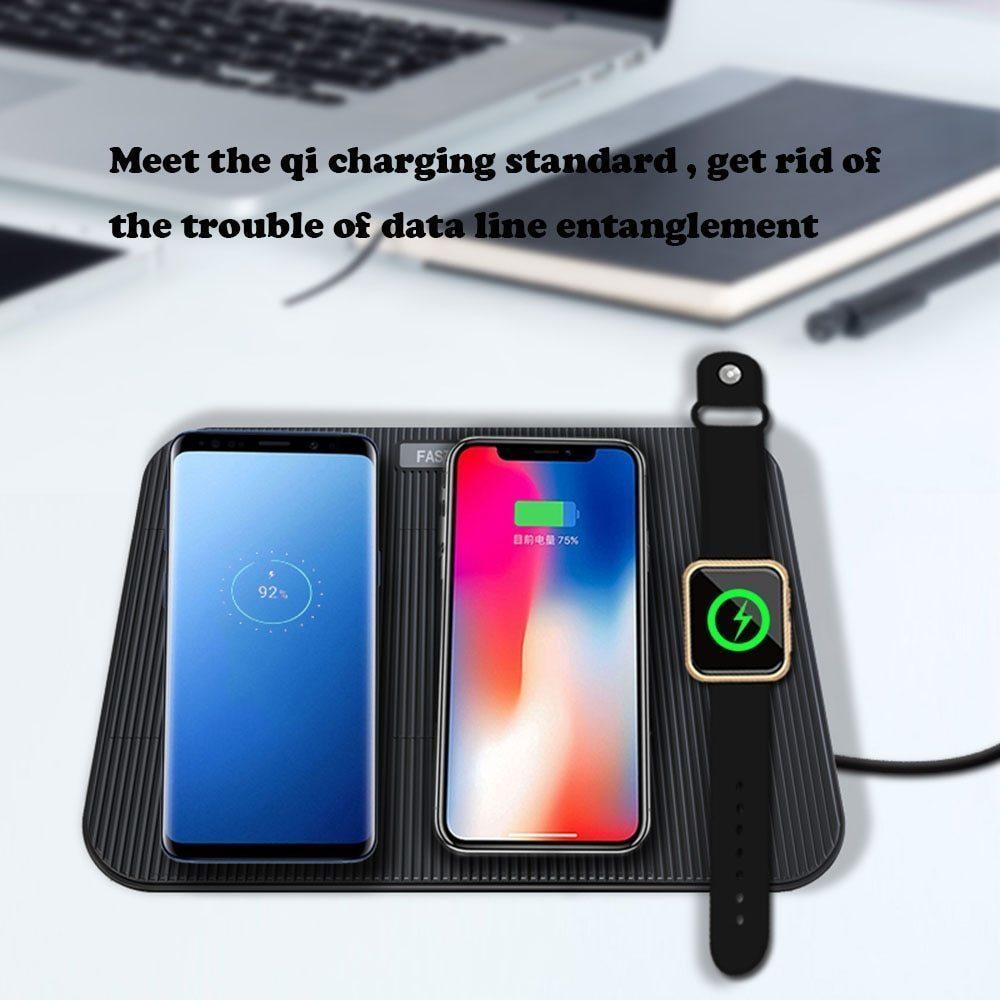 【送料無料】Miuly Qi 急速 多機能ワイヤレス充電器 iphone/apple watch/airpods/ipad 充電スタンド ワイヤレスチャージャー_画像4