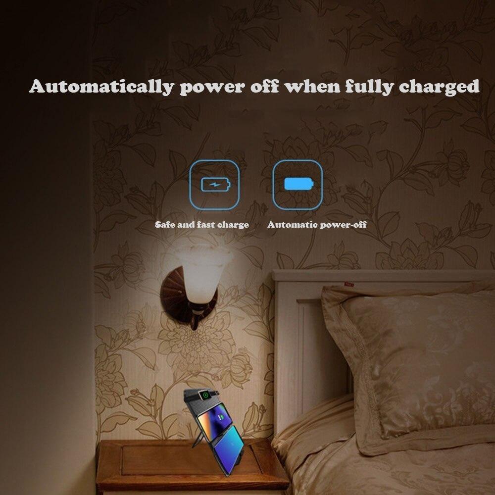 【送料無料】Miuly Qi 急速 多機能ワイヤレス充電器 iphone/apple watch/airpods/ipad 充電スタンド ワイヤレスチャージャー_画像6