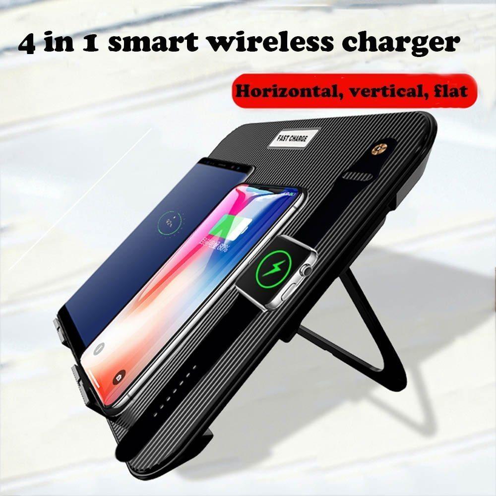 【送料無料】Miuly Qi 急速 多機能ワイヤレス充電器 iphone/apple watch/airpods/ipad 充電スタンド ワイヤレスチャージャー_画像1
