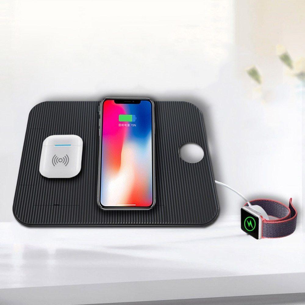 【送料無料】Miuly Qi 急速 多機能ワイヤレス充電器 iphone/apple watch/airpods/ipad 充電スタンド ワイヤレスチャージャー_画像5