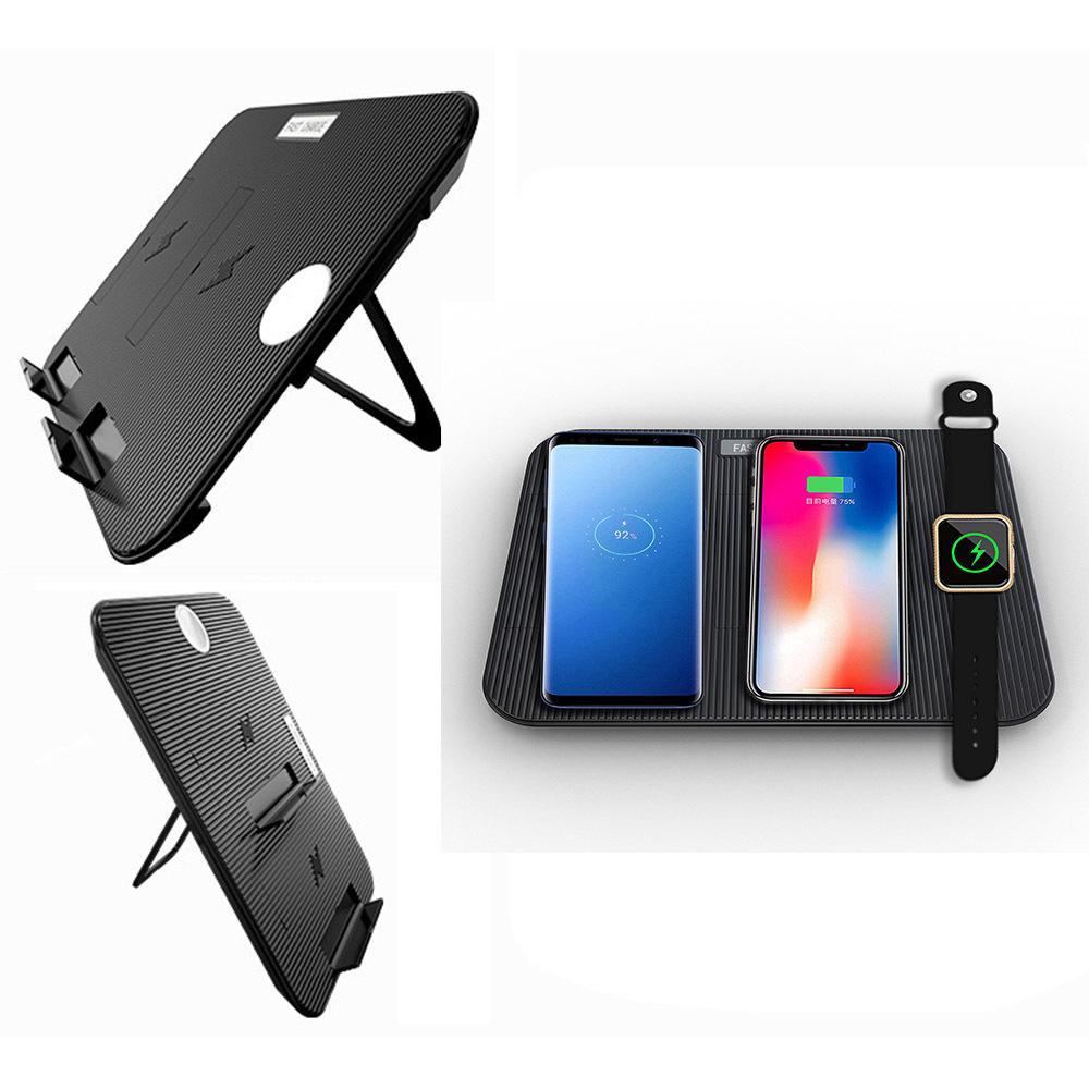【送料無料】Miuly Qi 急速 多機能ワイヤレス充電器 iphone/apple watch/airpods/ipad 充電スタンド ワイヤレスチャージャー_画像2
