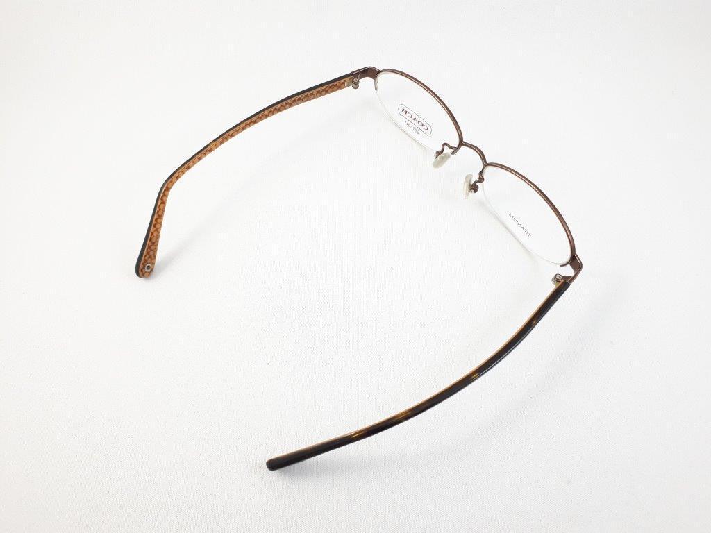 新品《デッドストック》 COACH コーチ EDNA 904AF 51口16-135 DARK BROWN 度付きレンズ無料 眼鏡フレーム_画像6