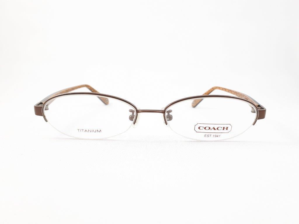 新品《デッドストック》 COACH コーチ EDNA 904AF 51口16-135 DARK BROWN 度付きレンズ無料 眼鏡フレーム_画像2