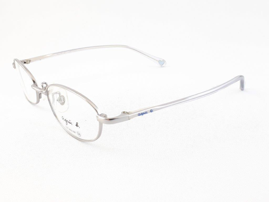 新品《デッドストック》 agnes b アニエスベー AB-1150 CU 48口17-135 シルバー/クリア made in Japan 度付きレンズ無料 メガネ 眼鏡_画像3