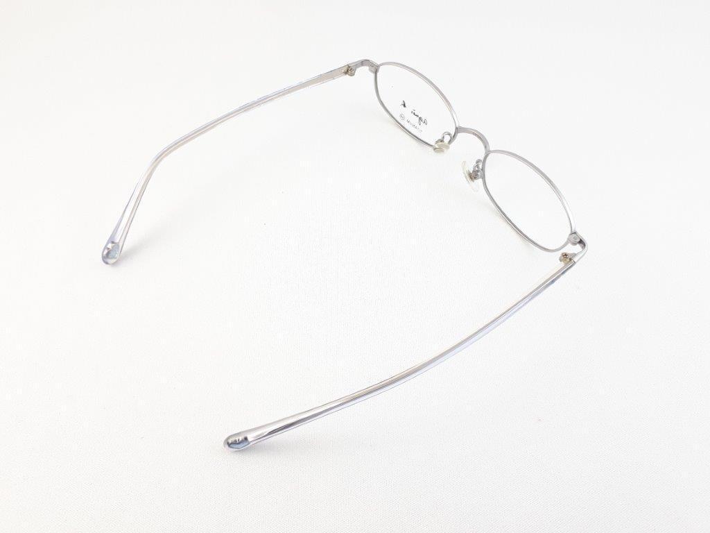 新品《デッドストック》 agnes b アニエスベー AB-1150 CU 48口17-135 シルバー/クリア made in Japan 度付きレンズ無料 メガネ 眼鏡_画像6