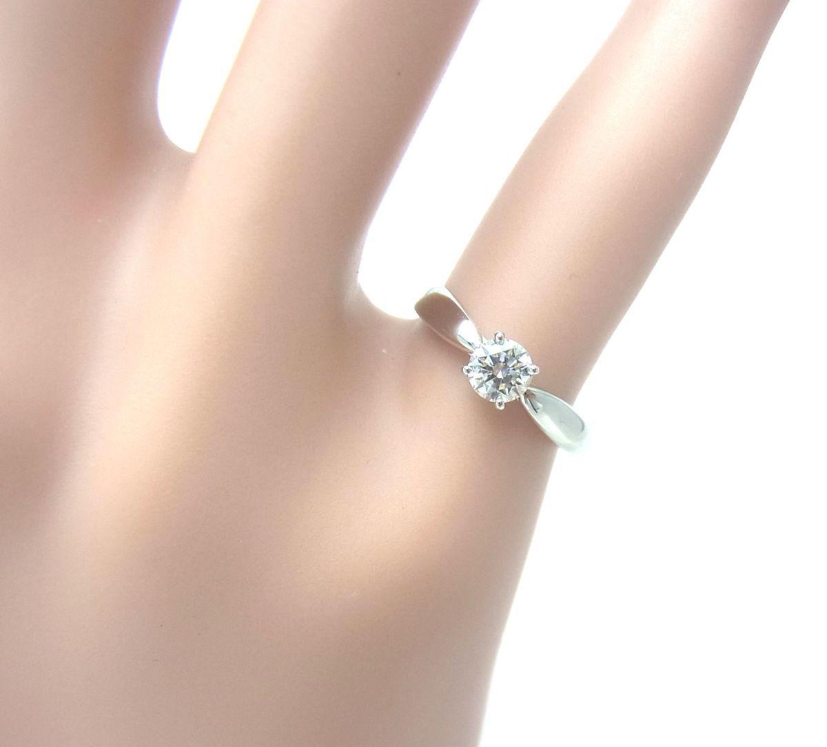 送料込みの即決価格!ティファニー 天然ダイヤモンド0.28ct 上質クラス プラチナ製リング 婚約ダイヤ ブライダル アウトレット 訳あり_画像7