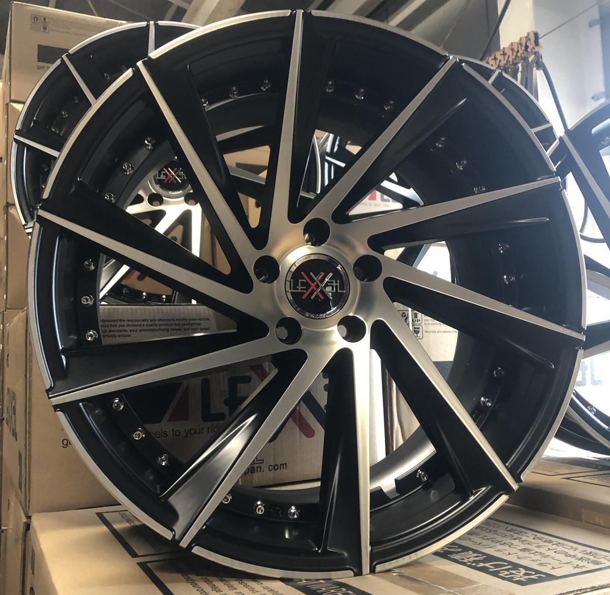 美品!! スカイライン フーガ Z33 SC アルファード ヴェルファイア IS クラウン 20インチ タイヤホイールセット 9J&10J 4本 LEXXEL Laluce_画像9