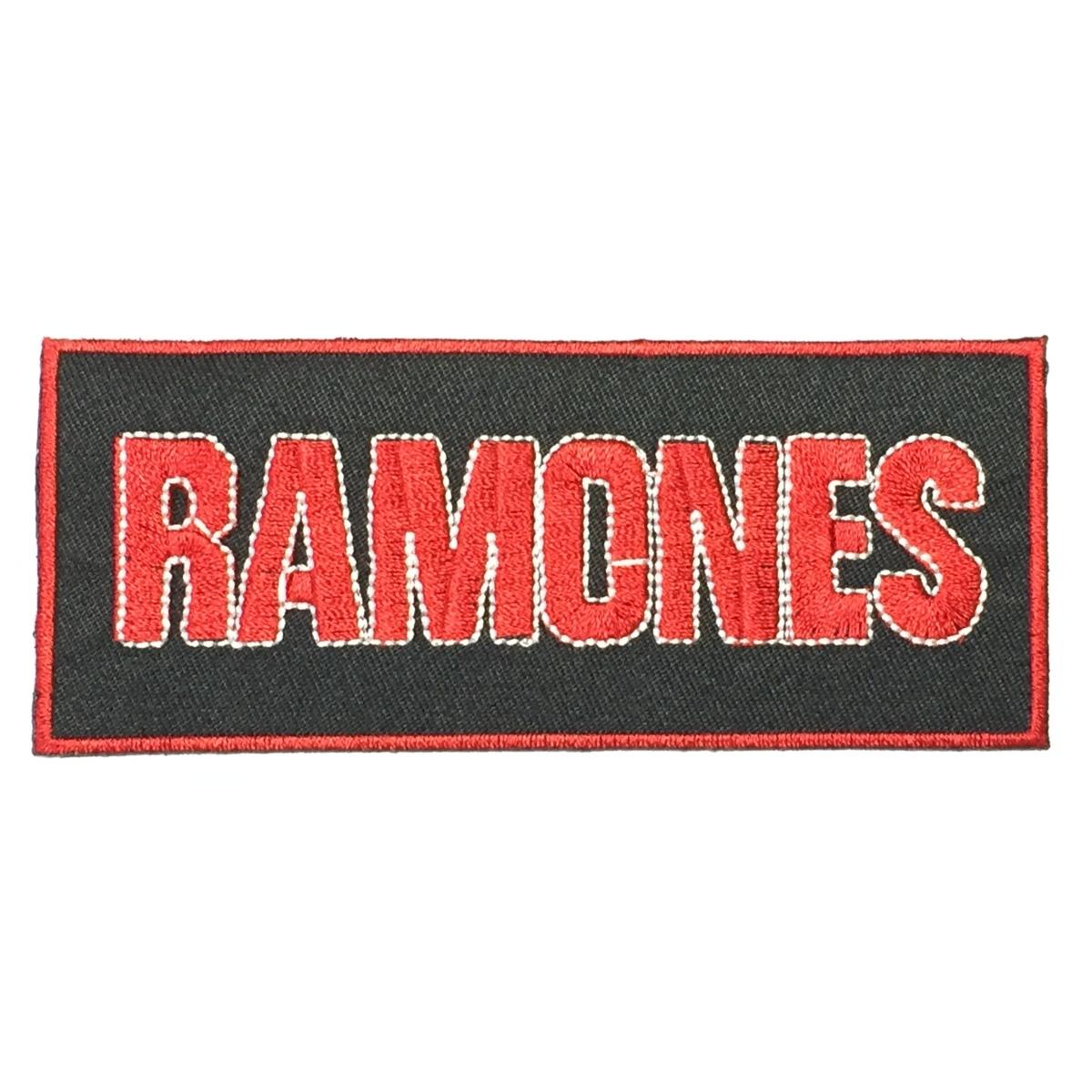181 Ramones ラモーンズ ラモンズ 横長ロゴ アイロン ワッペン 音楽 パンク ロック リペア カスタム 刺繍ワッペン アイロンワッペン_画像1