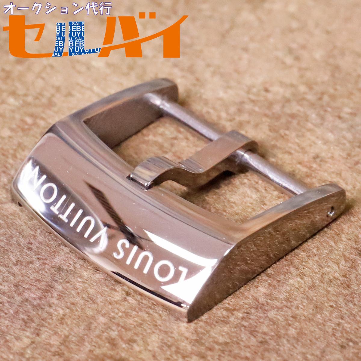 本物 ヴィトン 現行モデル アーディヨンバックル タンブールGM 対応 18mm幅 腕時計用 ウォッチベルト 尾錠 バンド VUITTON_画像1