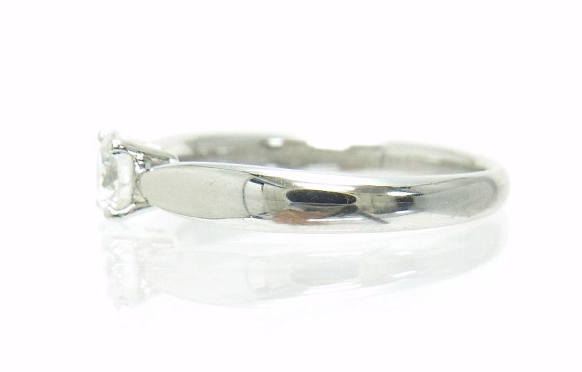 送料込みの即決価格!ティファニー 天然ダイヤモンド0.28ct 上質クラス プラチナ製リング 婚約ダイヤ ブライダル アウトレット 訳あり_画像4
