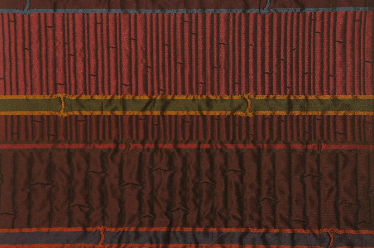 特選紫紘黒色糸地ふくれ織竹垣模様袋帯[O11702]_特選紫紘黒色糸地ふくれ織竹垣模様袋帯