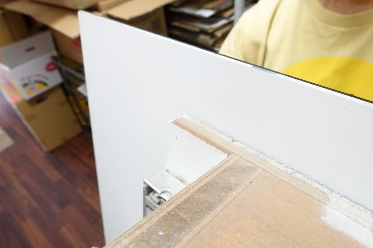 A 静岡県引取限定 70*140cm 大型 壁掛けミラー 間接照明付き 鏡 店舗 業務用 美容院_画像7