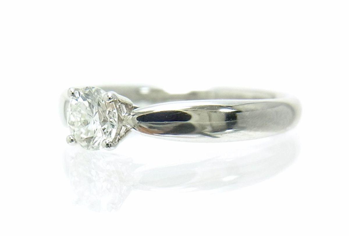 送料込みの即決価格!ティファニー 天然ダイヤモンド0.28ct 上質クラス プラチナ製リング 婚約ダイヤ ブライダル アウトレット 訳あり_画像3