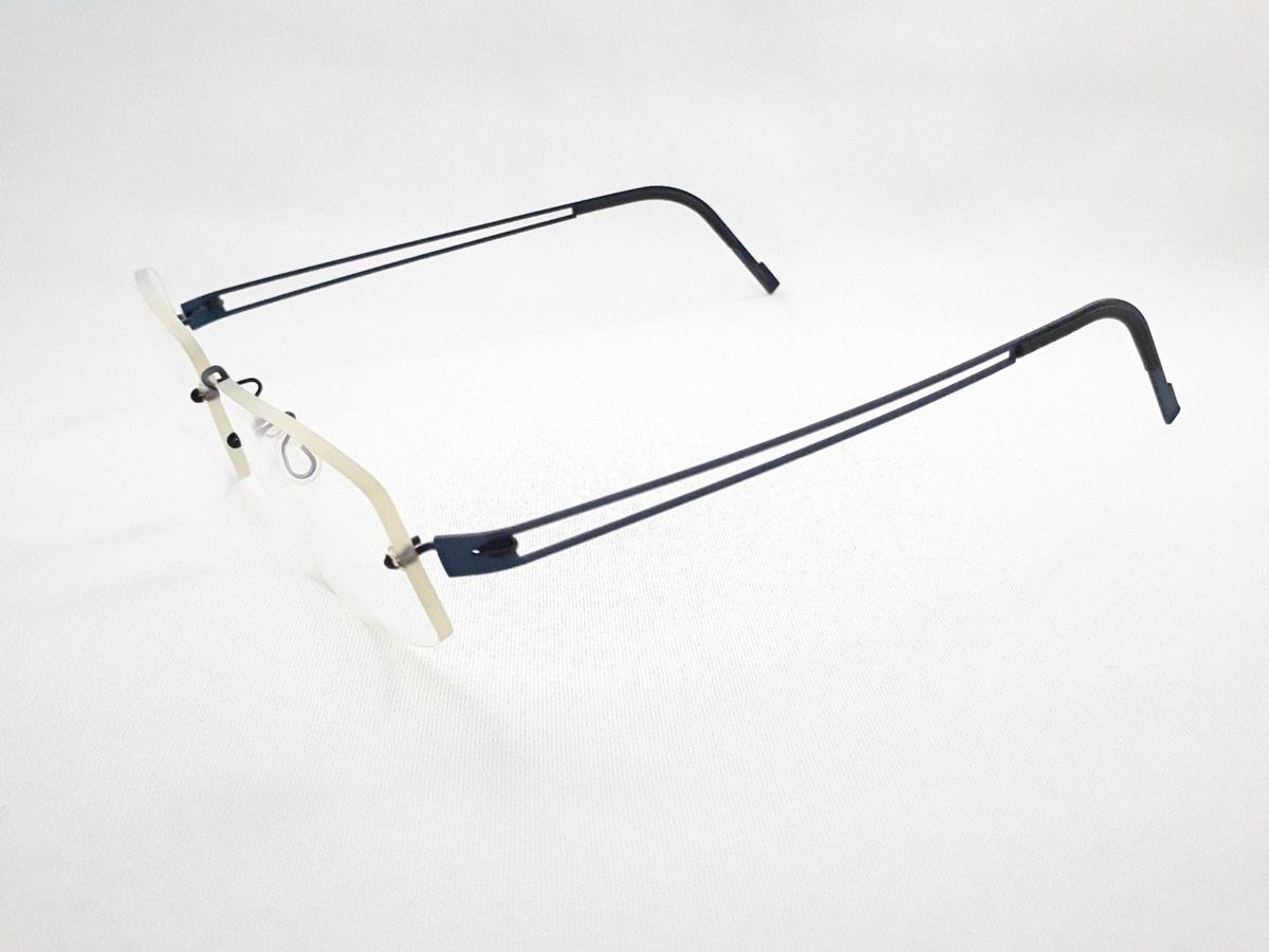 新品《デッドストック》 LINDBERG リンドバーグ スピリット・チタニウム col.U13 ブルー MADE IN DENMARK 度付きレンズ無料 メガネ 眼鏡_画像3
