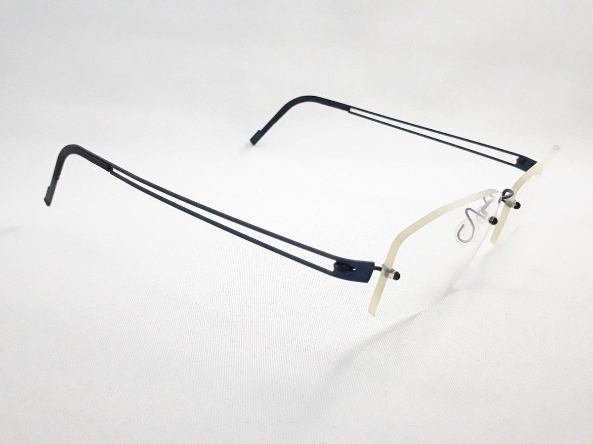 新品《デッドストック》 LINDBERG リンドバーグ スピリット・チタニウム col.U13 ブルー MADE IN DENMARK 度付きレンズ無料 メガネ 眼鏡_画像4