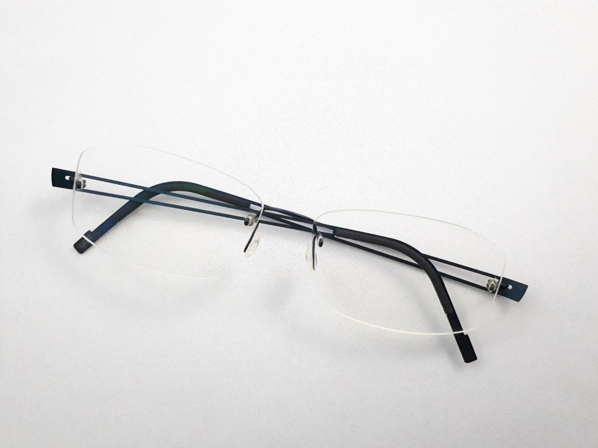 新品《デッドストック》 LINDBERG リンドバーグ スピリット・チタニウム col.U13 ブルー MADE IN DENMARK 度付きレンズ無料 メガネ 眼鏡_画像1
