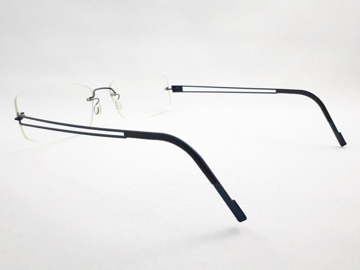 新品《デッドストック》 LINDBERG リンドバーグ スピリット・チタニウム col.U13 ブルー MADE IN DENMARK 度付きレンズ無料 メガネ 眼鏡_画像5