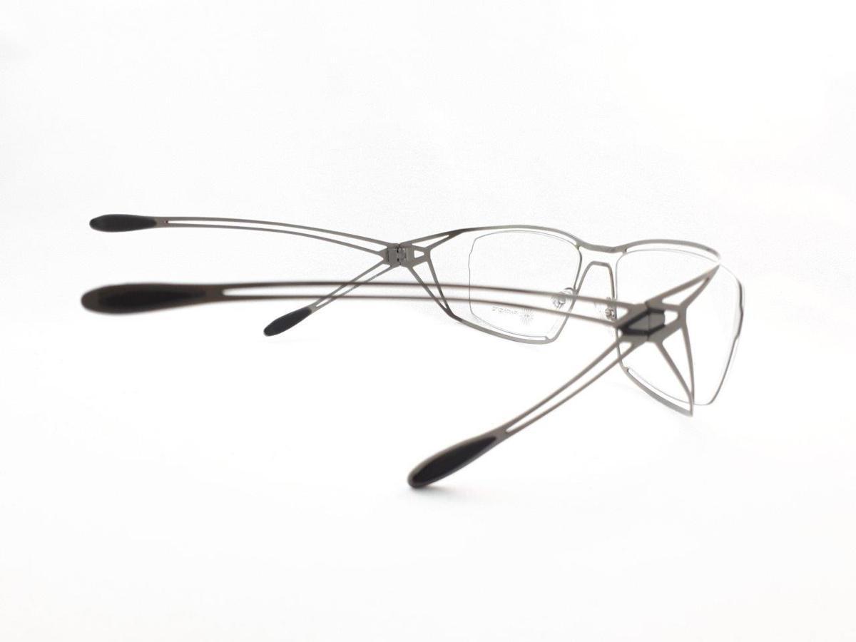 新品 PARASITE パラサイト MAZINGER Y C58 56口18 シルバー made in France 度付きレンズ無料 メガネ 眼鏡フレーム_画像6
