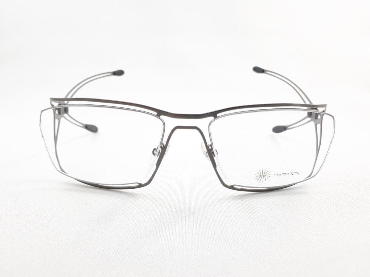 新品 PARASITE パラサイト MAZINGER Y C58 56口18 シルバー made in France 度付きレンズ無料 メガネ 眼鏡フレーム_画像2