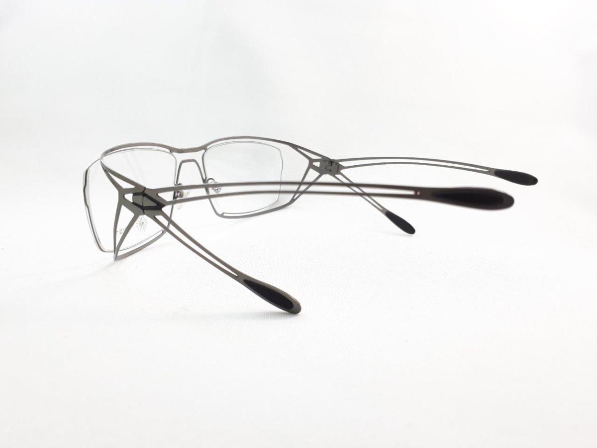 新品 PARASITE パラサイト MAZINGER Y C58 56口18 シルバー made in France 度付きレンズ無料 メガネ 眼鏡フレーム_画像5