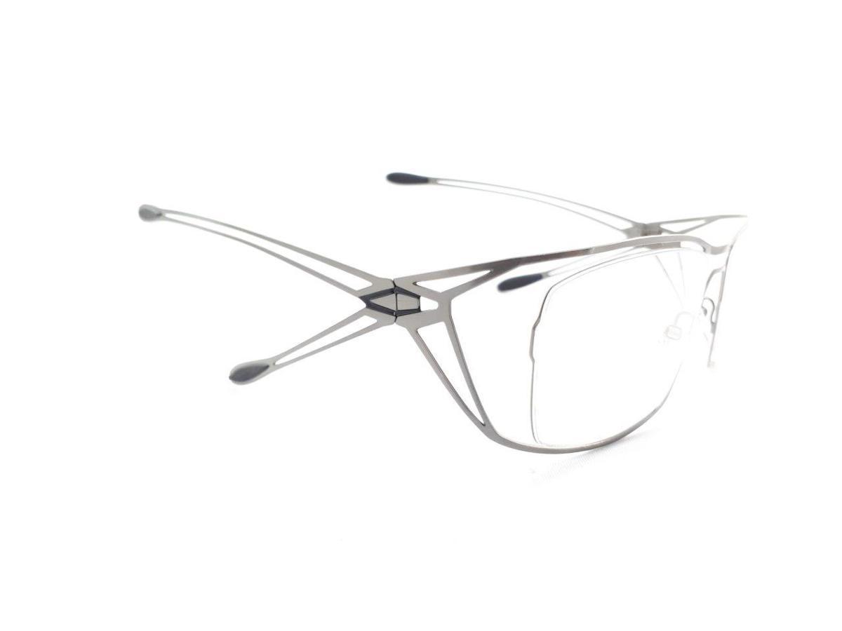 新品 PARASITE パラサイト MAZINGER Y C58 56口18 シルバー made in France 度付きレンズ無料 メガネ 眼鏡フレーム_画像4
