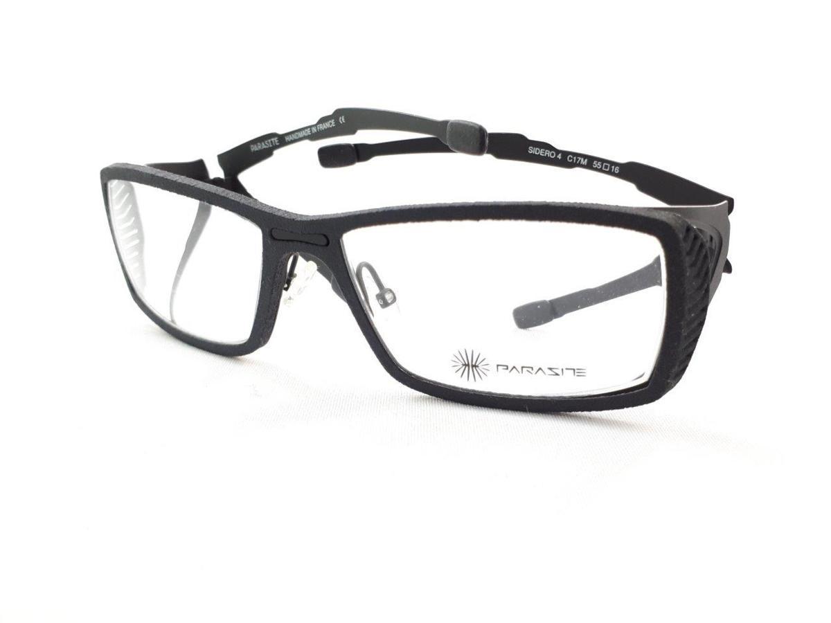 新品 PARASITE パラサイト SIDERO 4 C17M 55口16 ブラック made in France 度付きレンズ無料 メガネ 眼鏡フレーム_画像1